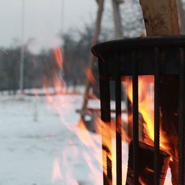 Gartendeko mit Feuer